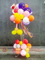 balon ucapan selamat, rangkaian balon ulang tahun, baby born gift, toko bunga di jakarta