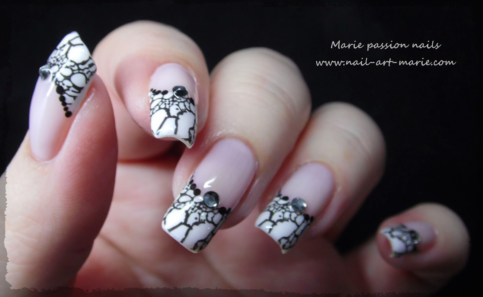 Nail art French effet faux ongles6