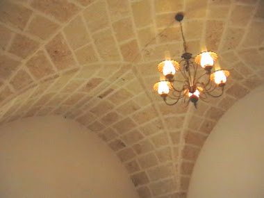 Star vaulted ceiling in lounge