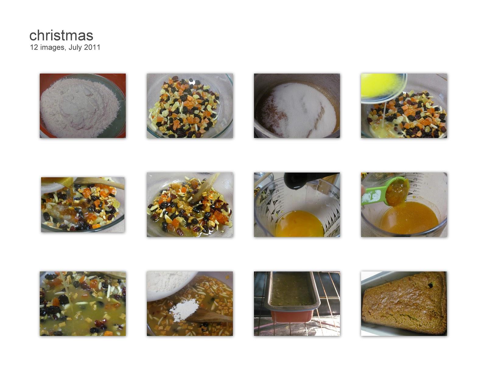 Eggless Fruit cake / Vegen  Christmas cake
