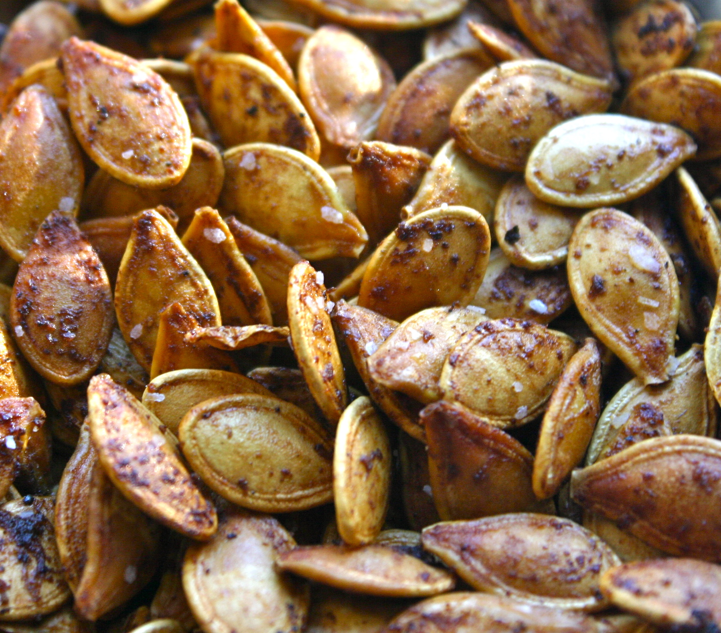 My Retro Kitchen: Roasted Pumpkin Seeds- Two Ways, Savory ...