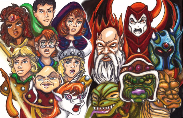 The Dungeons and Dragons Mural por wilnius