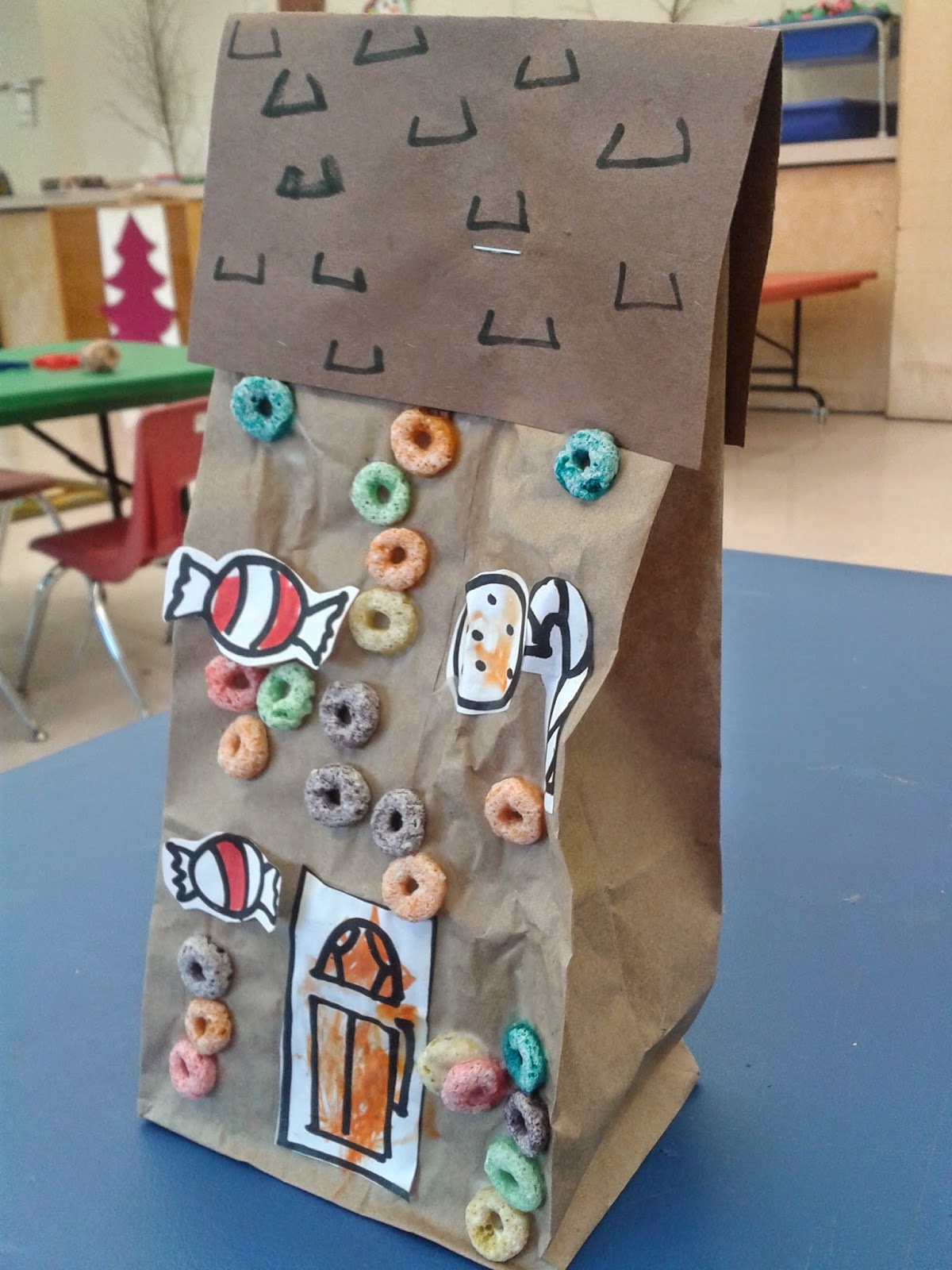 Classroom Freebies Too Paper Bag Gingerbread Houses With