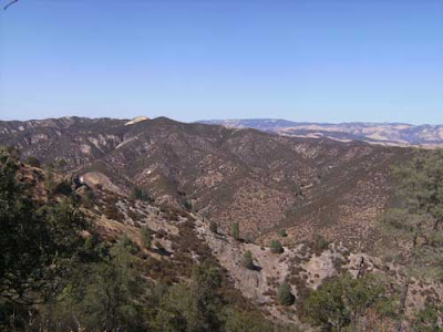 View of Pinnacles from hill