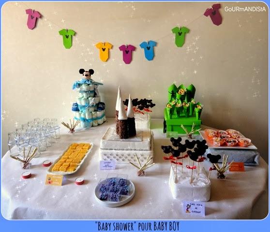 """image """"Sweet table"""" pour baby shower sur le thème : Disney - buffet de dessert"""