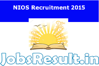 NIOS Recruitment 2015
