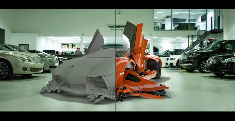 Lamborghini Aventador LP700 4 Transformer Promo VFX Breakdown