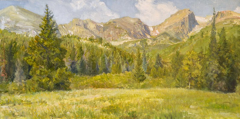 First Light On The Front Range painting by Richard Lance Russell