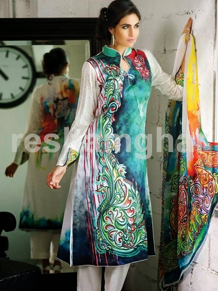 Resham Ghar Summer Collection 2015 for girls