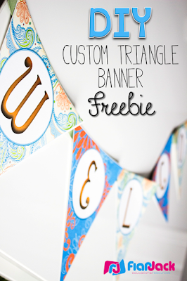 DIY Bunting Triangle Banner Freebie