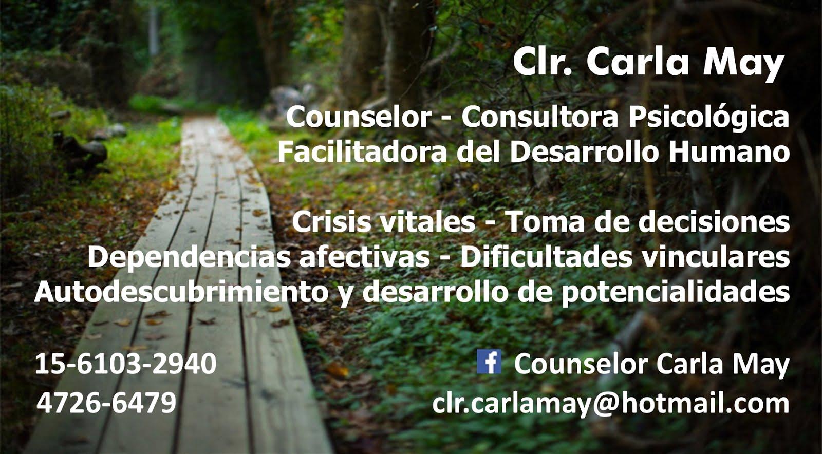 Carla May, Consultora Psicológica