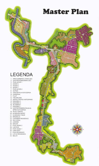 Grand Depok City Siteplan