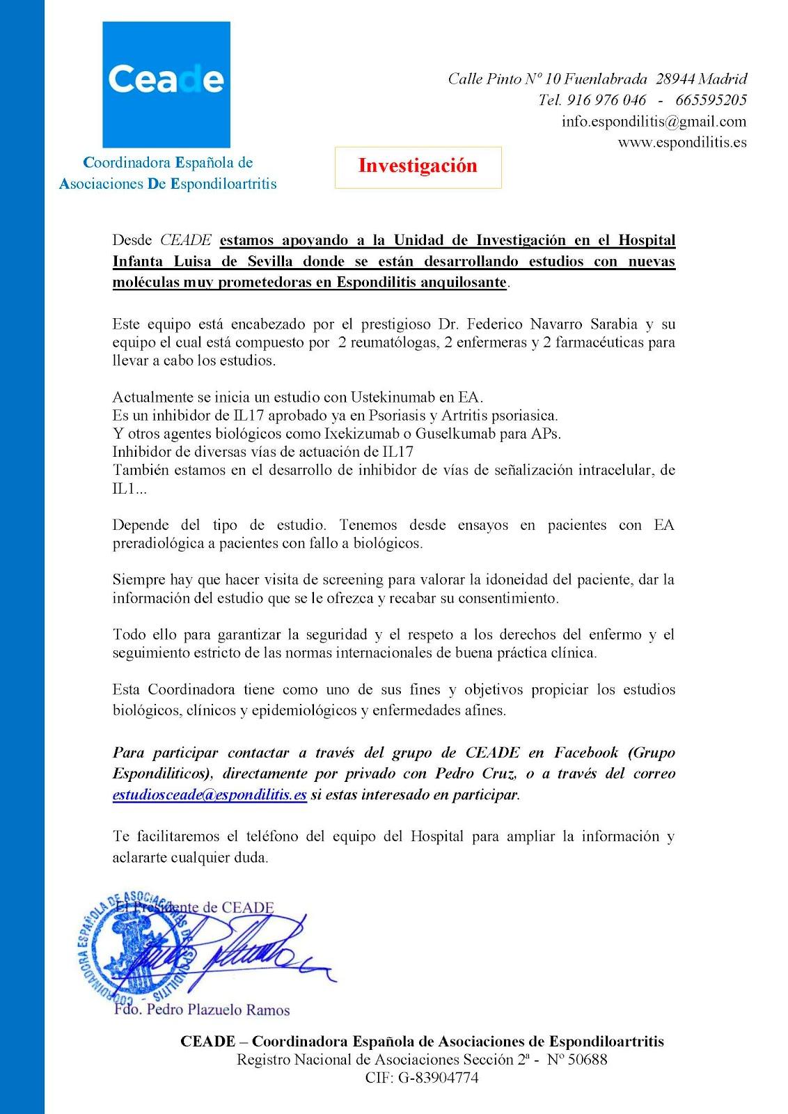 Unidad de Investigación Hospital Infanta Luisa de Sevilla