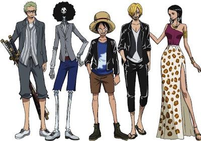 Bajak Laut Topi Jerami pakaian Armani One Piece Film Z