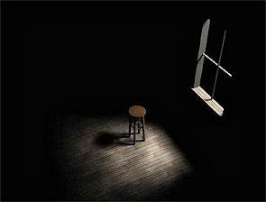 """""""Nessa  cadeira / solidão senta / madrugada bizarra / lendo algo / grita o silêncio..."""""""