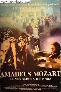 Amadeus Mozart -La verdadera historia- = Vergeßt Mozart (1985) (Caja de cartón gigante cortada en las   solapas)