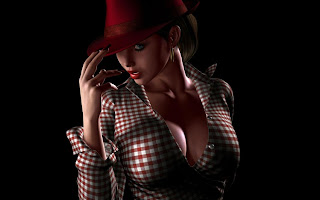 3D Girl Style Red Hat HD Wallpaper
