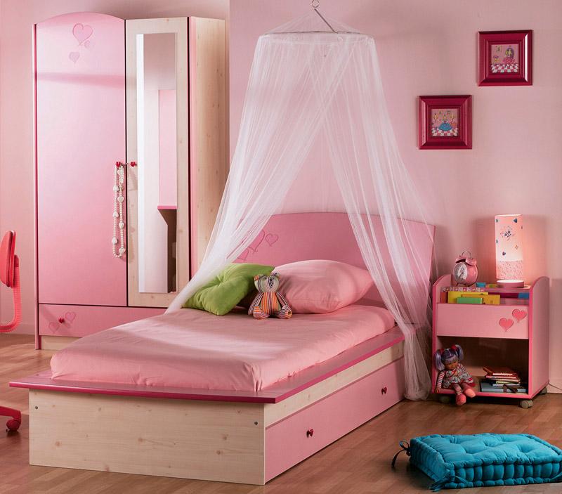 Dormitorio color rosa para ni as dormitorios con estilo - Dormitorios color rosa ...