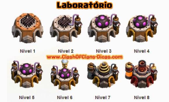 Evolução de Estrutura da Vila  Laboratorio-atualizar-tropas-clash-of-clans