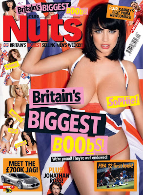 "Sophie Howard Presents Nuts Magazine ""Britain's Biggest Boobs"""