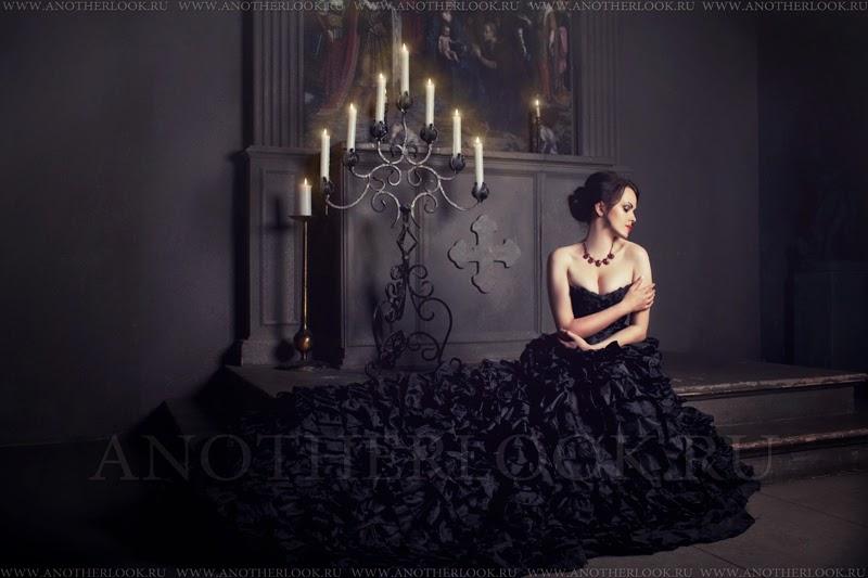Черное платье для фотосессии