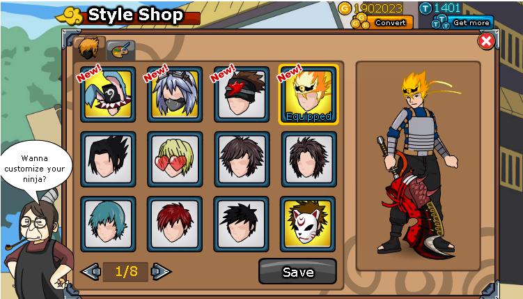 Cheats Ninja Saga HairStyle 3rd Anniversary
