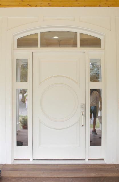 Home tour: Front door paint color