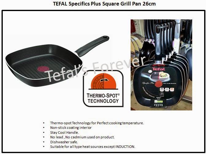 26cm Tefal Specifics Square Grill Pan Non Stick