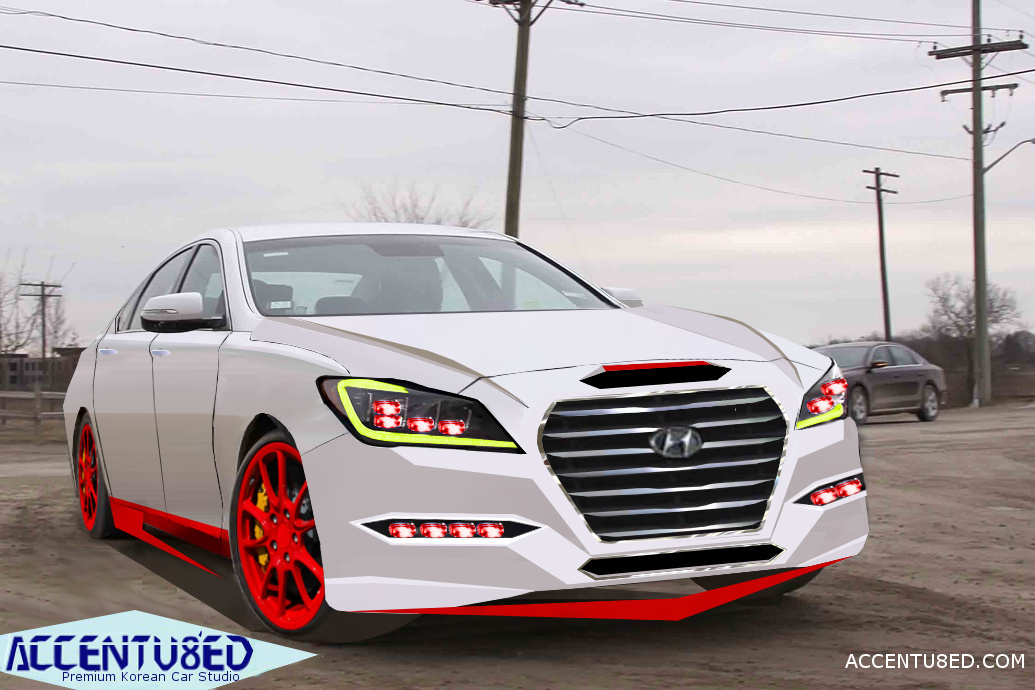 2014 Hyundai Genesis Sedan Renderings and Concepts- by Hyundai Smoke.