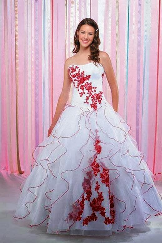 Vestidos de Novia con Flores de Colores, parte 3