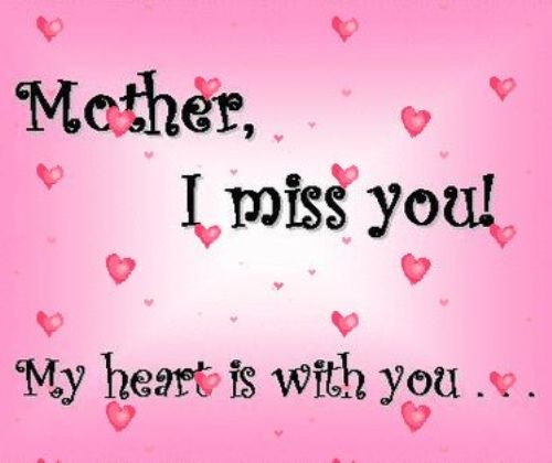 Missing My Mom In Heaven Quotes Inspiration Happy Mothers Day In Heaven Mom Images Quotes 2017 I Miss You Mom