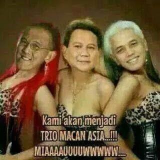 Trio Macan Pendukung Prabowo