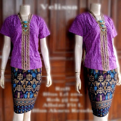 model-kebaya-rok-batik-prada-Velisa-ungu