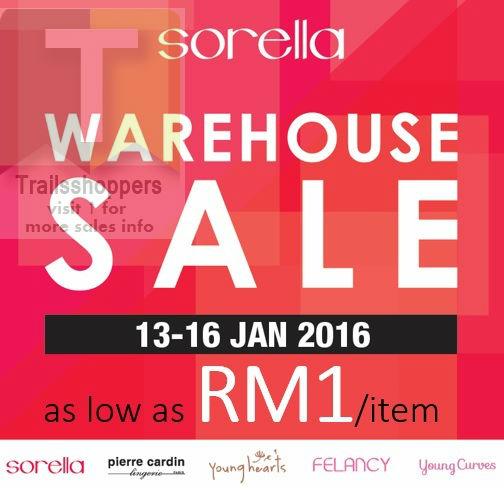 Sorella Lingerie Malaysia Warehouse Sale RM1