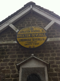 Old AA road sign, Brixton Deverill, Somerset
