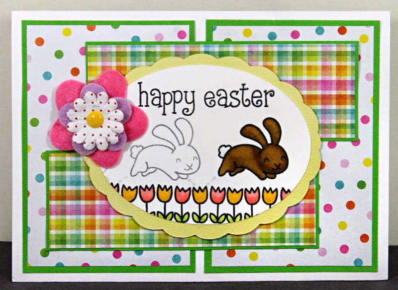 Happy Easter by Amanda H with Lawn Fawn Mojo 339