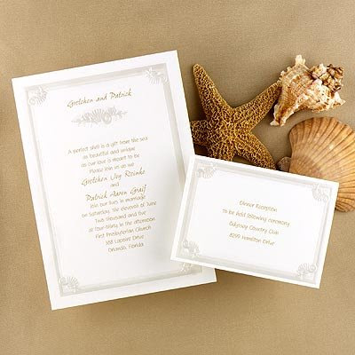 beach wedding invitations samples