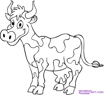 How To Draw A Cow Step By Step Video