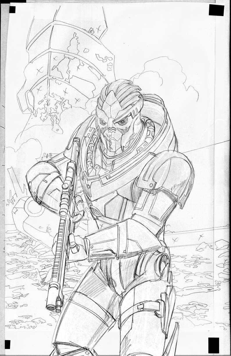As Promised Here Is An In Depth Process Post For The Garrus Mass Effect Cover