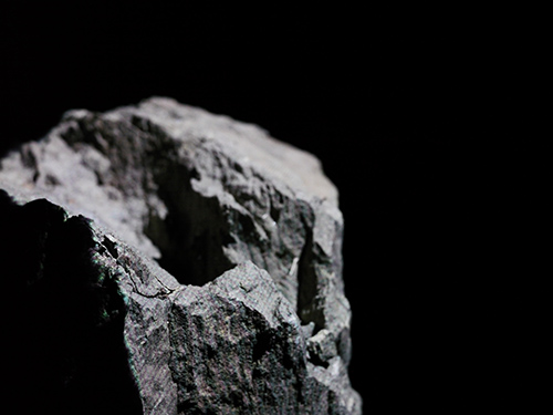 Rock surface with white projected light #1