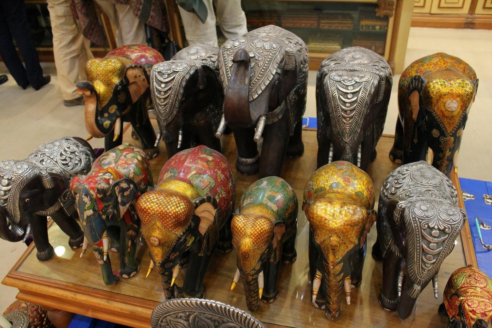 Jaipur - elefánt szobrocskák
