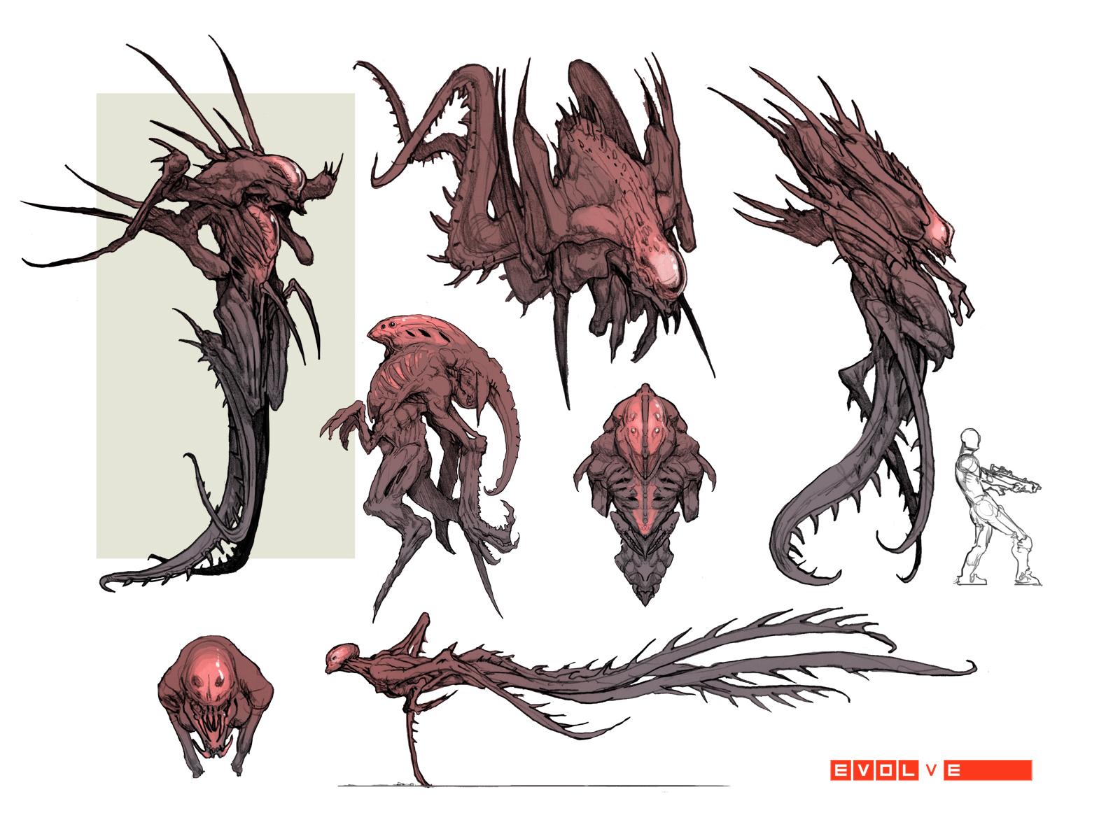 Evolve Monster Concept Art - Goliath - 767.5KB