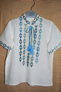 Детская вышиванка на мальчика с коротким рукавом