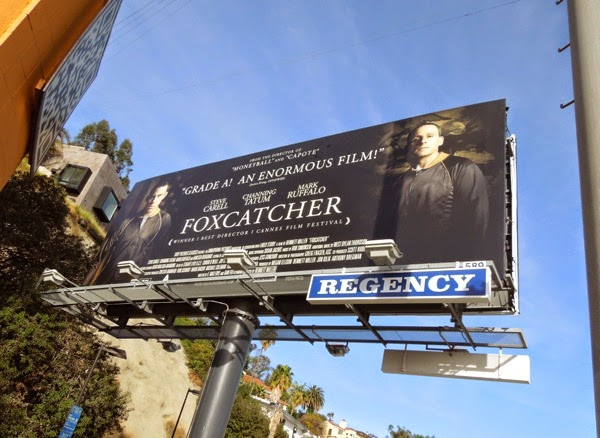 Foxcatcher movie billboard