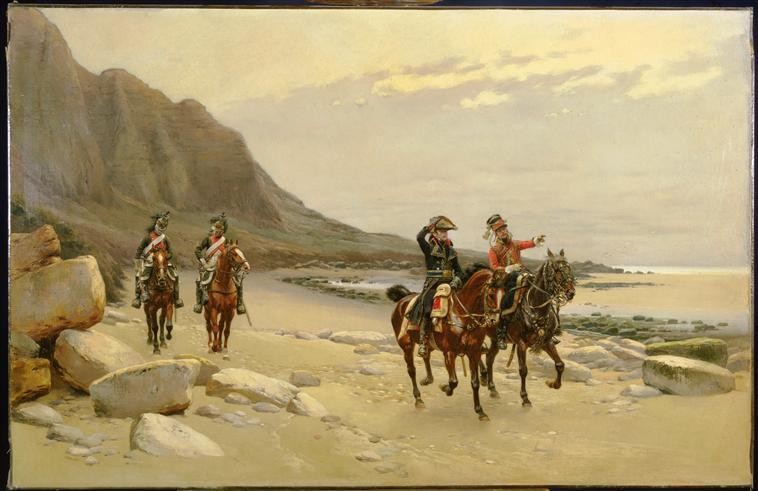 En reconnaissance sur le rivage