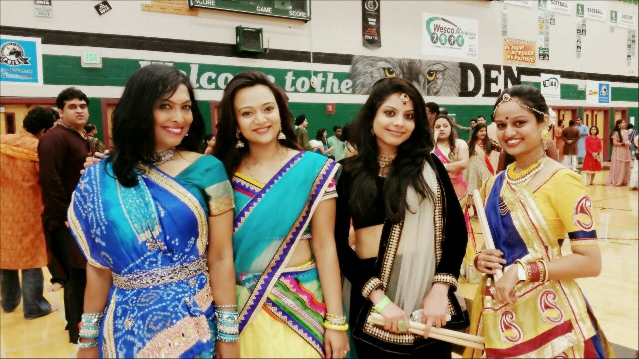 Indian festivals in seattle, Indian events in USA, Seattle indian Navarati, Seattle Gujartai cultural  society, Ananya's Dandiya experience
