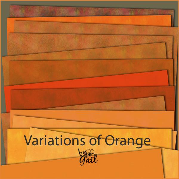 Gail 39 S Space Ii Variations Of Orange Papers