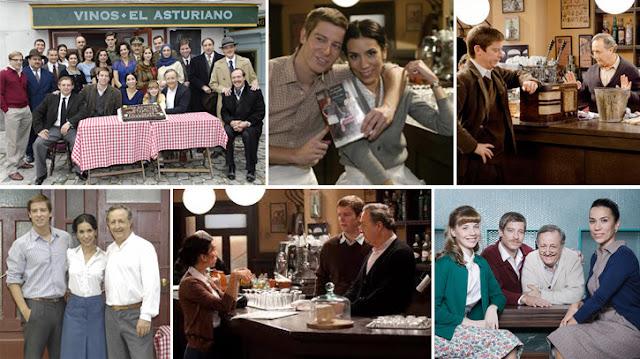 Bar de la serie Amar en tiempos revueltos de TVE, El asturiano.