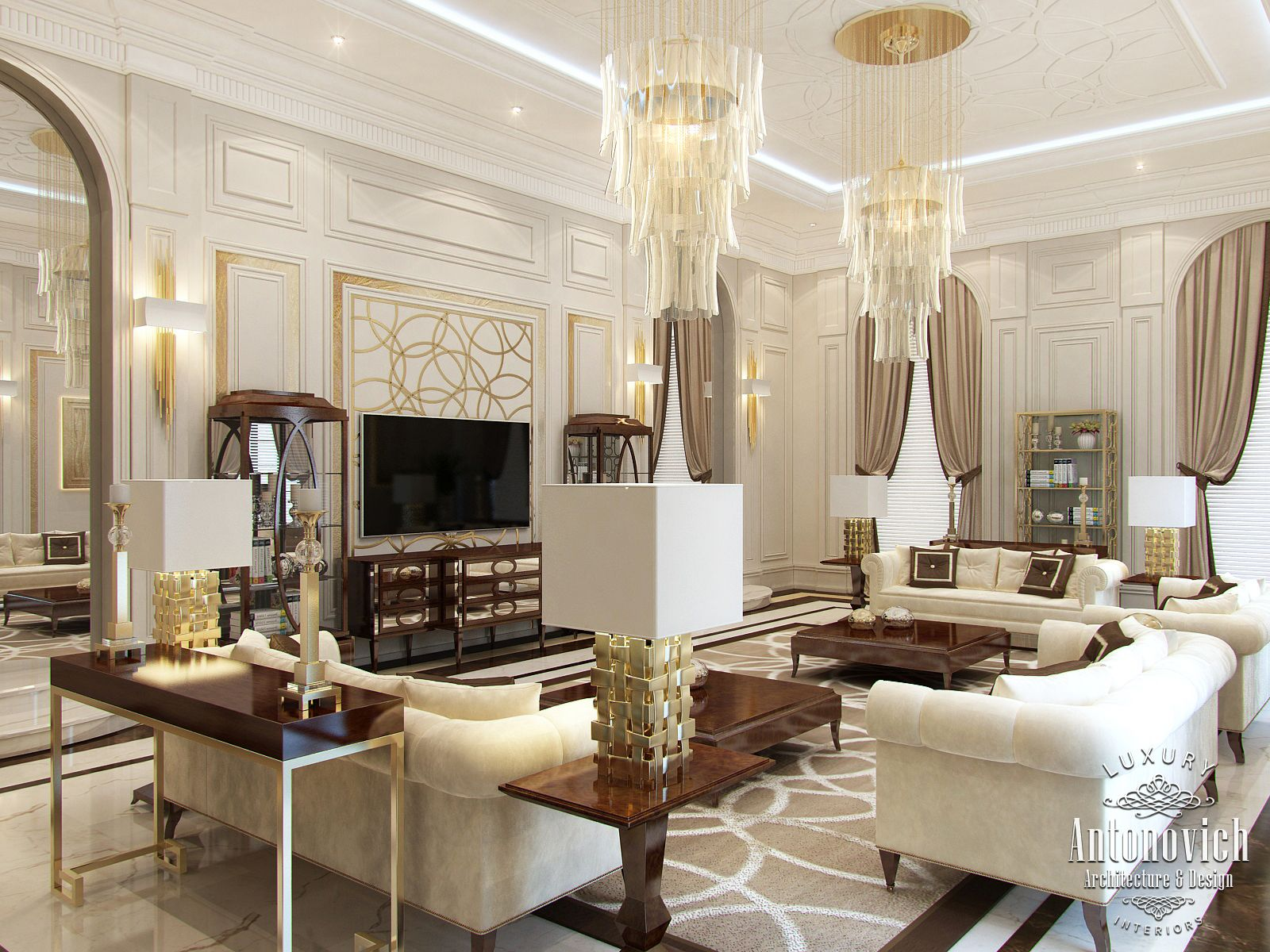 Luxury antonovich design uae interior design dubai from for One agency interior design dubai
