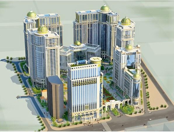 Phối cảnh tổng thể dự án khu đô thị chung cư Royal City